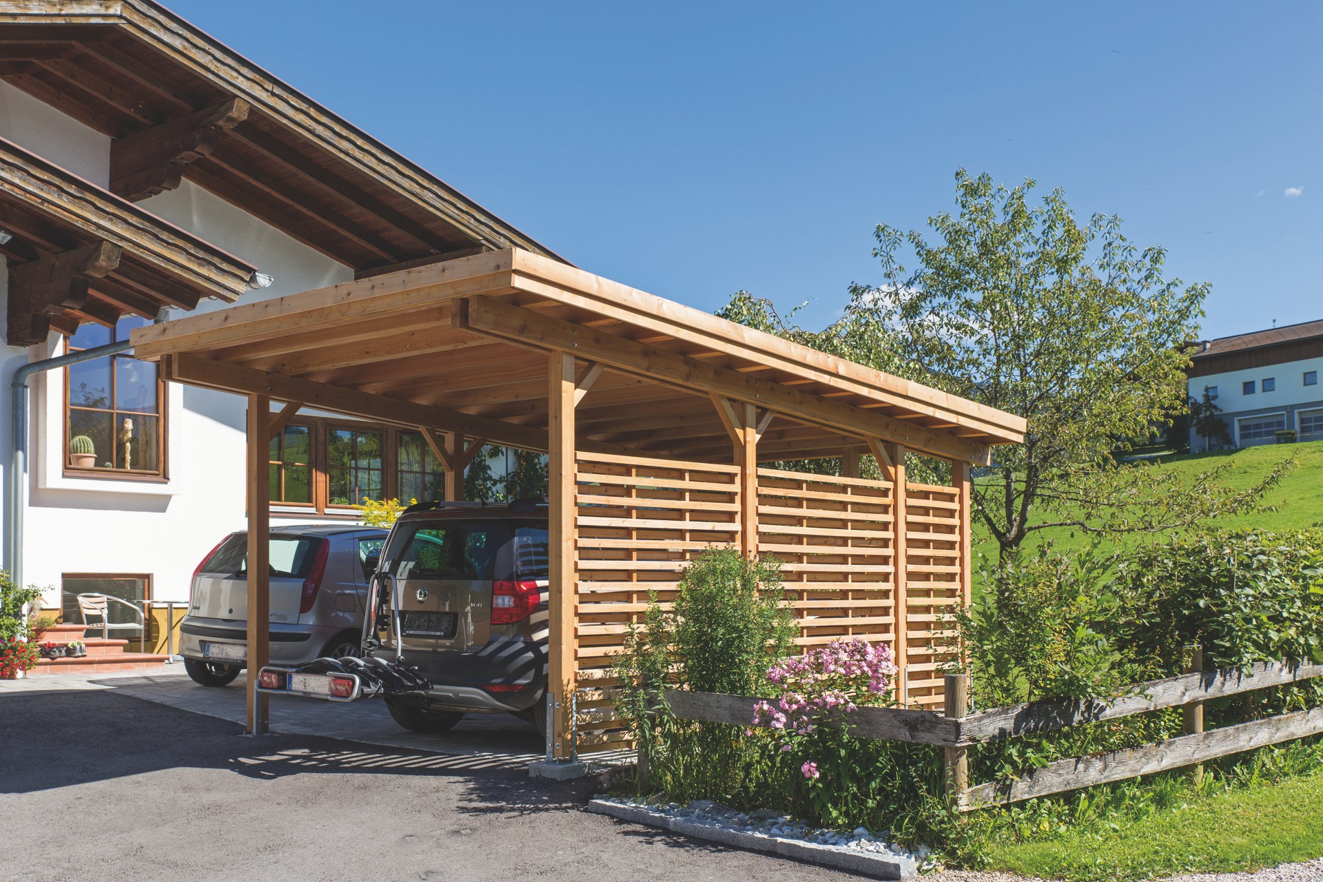 holz f r carport carport mit holz verkleiden holz im garten bausteff handels gesmbh carport. Black Bedroom Furniture Sets. Home Design Ideas